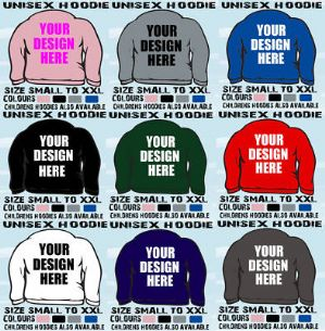 20 HOODED TOPS HOODIES ADULT DANCE SCHOOL CLUB LOGO